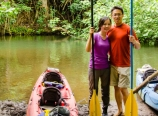 Back at the kayak