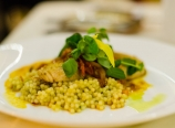 Seared opah with couscous