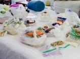 Organizing the food