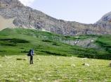Climbing toward Gable Pass Trail