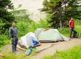 Morning at Slide Lake campsite