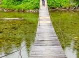 Coming across the bridge