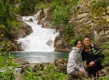 At Gros Ventre Falls