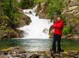 Mark at Gros Ventre Falls