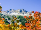 Mt. Sefrit and fall color