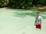 Wading back