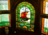 Stained glass at the Squantum Association