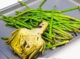 Grilled artichoke and asparagus