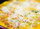 Parmesan cheese layer