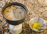 Making egg drop soup
