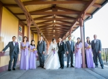 Wedding party at the train depot
