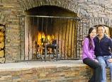 Fireplace at Tenaya Lodge