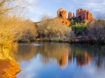 Cathedral Rock reflection in Oak Creek