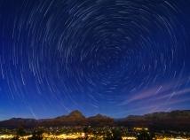 Star trails above Sedona