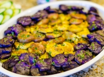 Purple and fingerling potatoes