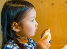 Enjoying bread