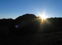 Sunrise near Heart Lake